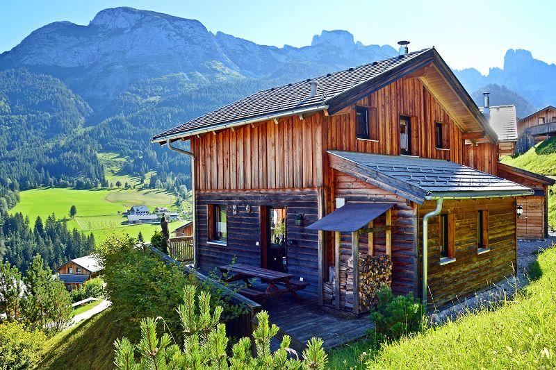 Ferienhaus lammertal dachstein west skigebiet in klarer for Hohe doppelbetten